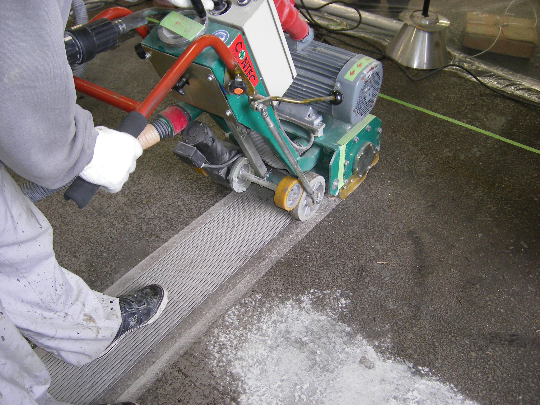 床表面処理切削工法(床面)