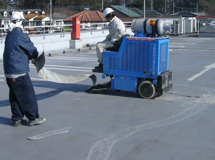貼床材・アスファルト・ウレタン防水剥離工法(床面)