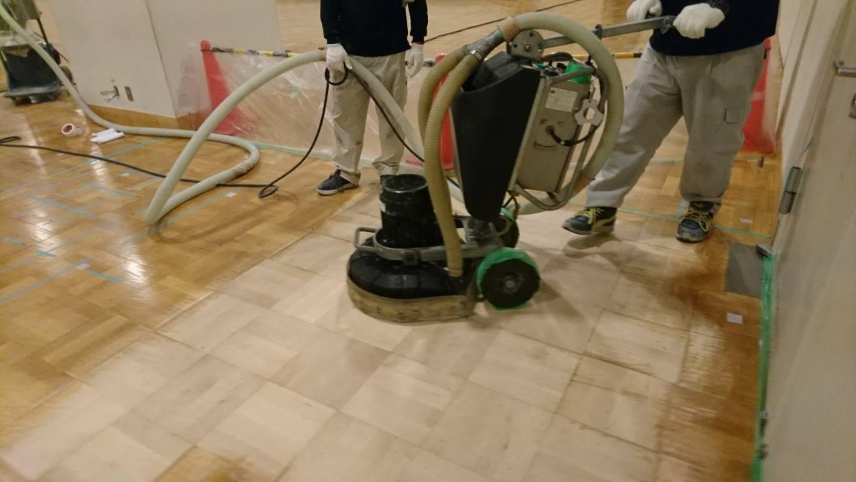 木床フローリング研磨・仕上工事