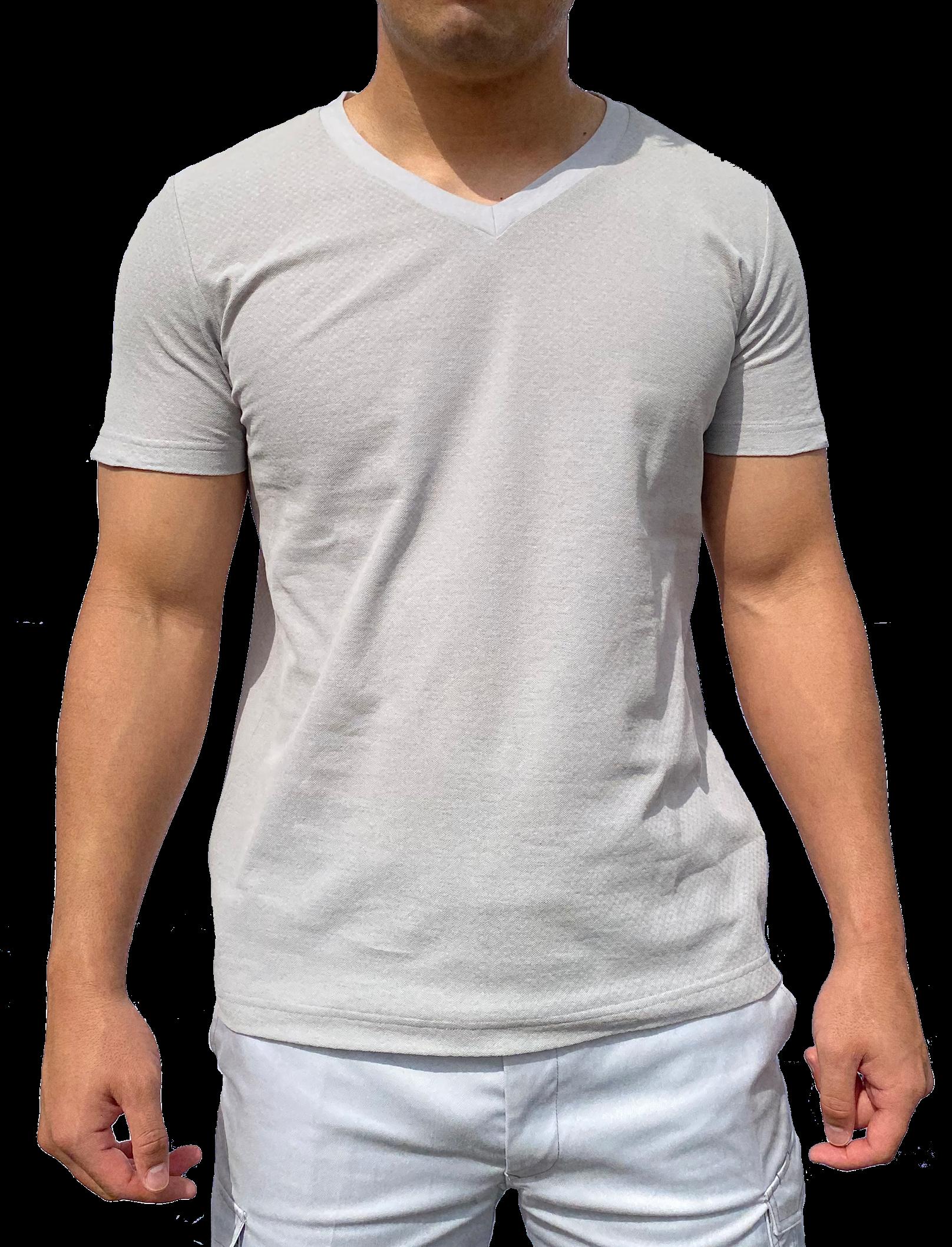ARGO(アルゴ) 木綿 シャツ COOL <V首・半袖> ~遮熱・放熱機能性アンダーウェア~
